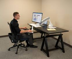 Used Sit Stand Desk by Cadence Standing Desk Converter
