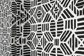 Black Drapery Fabric Black U0026 White Designer Fabric By The Yard Cotton Tribal Geometric