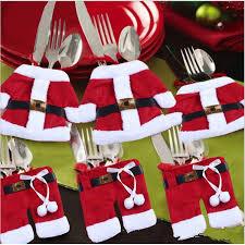 santa claus small knives and forks bag tree