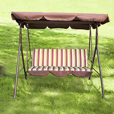 outdoor 3 person canopy swing chair patio backyard awning yard