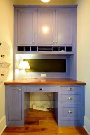 custom blue paint inset desk inset cabinets pinterest custom