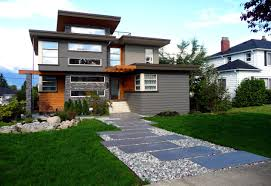 excellent modern zen home design in canada featuring exterior with