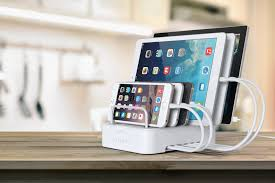 6 port customizable media organizer desktop charging station u2013 satechi