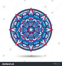 doodle presentations mandala element symmetric zentangle colorful vector stock vector