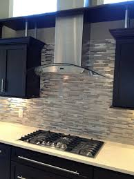 Modern Backsplash Light Taupe Linear Glass Mosaic Tile Backsplash - Linear tile backsplash