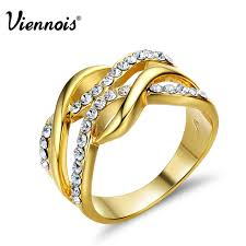 finger ring designs for aliexpress buy viennois new gold color multilayer size rings
