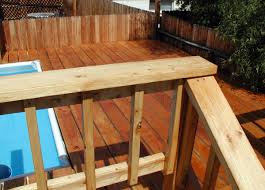 wood pool decks