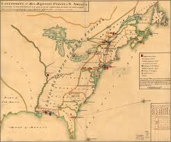 Made In America Map by British Cantonments In America 1765