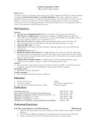 exle resume for excel resume template objective skill summary interest education