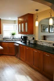 Kitchen Floors With Cherry Cabinets Cherry Cabinets In Small Kitchen Nrtradiant Com