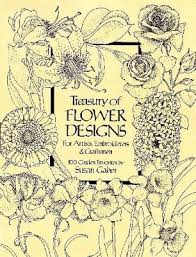 treasury of flower designs for artists embroiderers and craftsmen