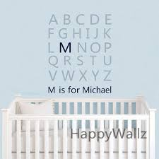 Letter Wall Decals For Nursery Baby Nursery Custom Name Letters Wall Sticker Diy Alphabet Name