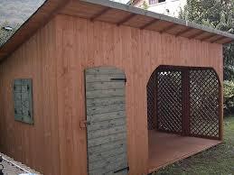 casette ricovero attrezzi da giardino con legnaia