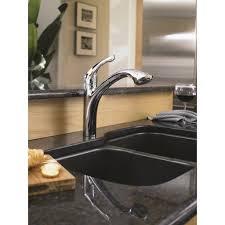 satin nickel hansgrohe allegro e kitchen faucet centerset single
