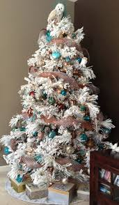 39 best christmas tree deco images on pinterest flocked