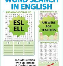 ed pronunciation u2013 english word search woodward english