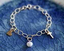 baptism charm bracelet baptism jewelry etsy