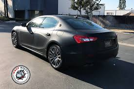 orange maserati matte black maserati with silver accents wrap bullys