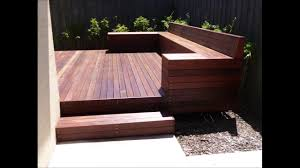 Wooden Bench Seat Designs by How To Build A Timber Deck With A Bench Seat Youtube