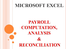 Payroll Reconciliation Excel Template Microsoft Excel Tutorial For Payroll Computation Analysis And
