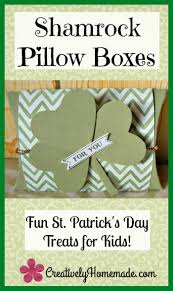 fun st patrick day kids treats gold coin filled pillow boxes