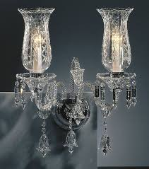 Crystal Wall Sconces Crystal Sconce And Bohemian Cut Crystal Wall Sconce
