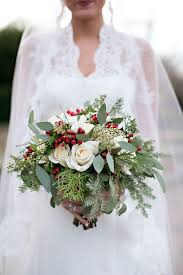 bridal bouquet 12 ways to pull the christmas wedding southern living