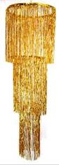 Streamer Chandelier 3 Tier Foil Chandelier Gold Donde Lo Compro Where To Buy