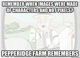 Memes Ascii - remember when images were made of characters and not pixels