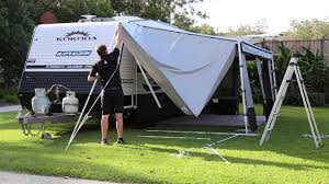 Caravan Pull Out Awnings Caravan Awning Porch Youtube