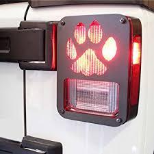 jeep wrangler brake light cover amazon com xprite tail light cover guard dog paw for 2007