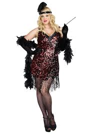 Cheap Size Halloween Costumes 3x Size Dames Flapper Costume