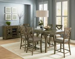 standard furniture omaha 7 piece counter height table set in grey
