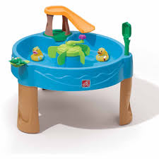 step 2 plastic train table step2 duck pond water table with water toys walmart com