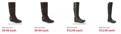 womens boots clearance sears shoe clearance sale boots as low as at 9 99