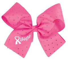 pink bows chassé cheer for the cause cheer bow omni cheer