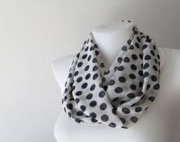 navy polka dot scarf etsy