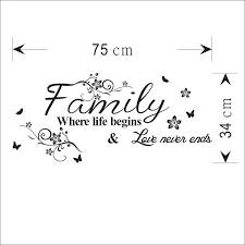 word family living room sofa wall decals home decoration wallpaper