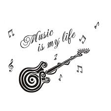 music is my life guitar pattern vinyl decal sticker wall decals music is my life guitar pattern vinyl decal sticker wall decals home decor