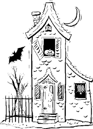 pictures of cartoon haunted houses cartoon haunted house coloring page coloring home