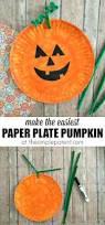 easiest paper plate pumpkin craft