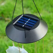 solar powered wind chime light 2 unique solar light wind chimes home idea