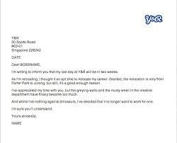 writing internship resignation letter sample retirement