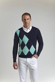 s sweater sale ss15 glenmuir mens v neck offset argyle golf sweater