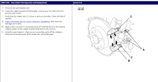 2006 honda civic repair manual from haynes manual rear brake r u0026r
