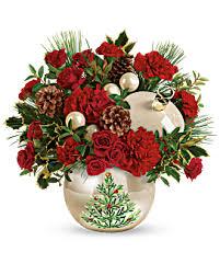 teleflora s classic pearl ornament bouquet teleflora