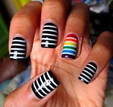 102 best manis 2 try stripes images on pinterest nail art
