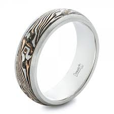 palladium wedding ring custom palladium and mokume men s wedding band 102360