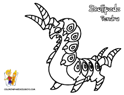 scolipede pokemon coloring pages book for boys bebo pandco
