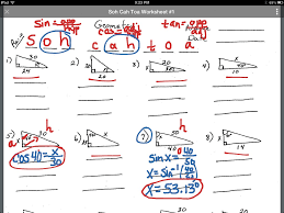 showme soh cah toa solving for an angle